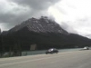 Leaving Banff - not raining much