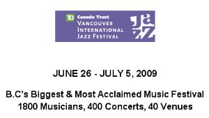 TD Canada Trust Vancouver International Jazz Festival   Coastal Jazz & Blues Society